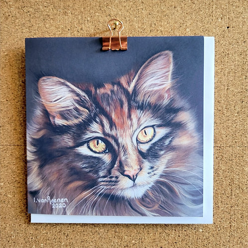 Blank Greeting Card of 'Cat'