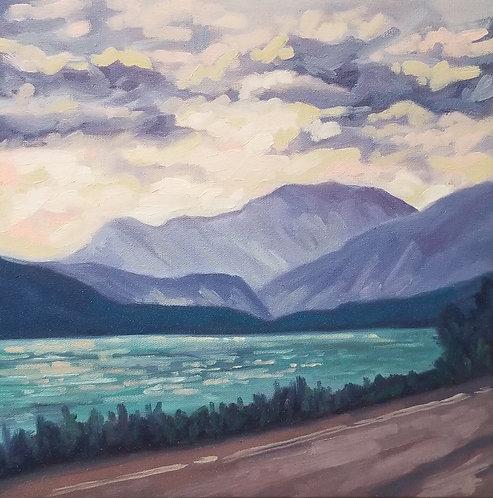 "Stormy Road Trip | 12""h x 12""w | Kerry Walford"