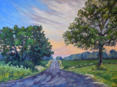 "Windecker Road, Cayuga, ON | 30""x40"" | Kerry Walford"