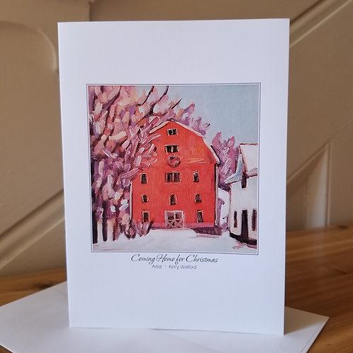 "7"" x 5"" Blank Greeting Card of 'Coming Home For Christmas'"