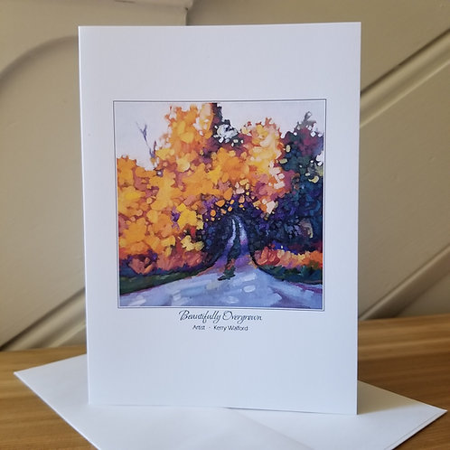 "7""x5"" Blank Greeting Card of 'Perfectly Overgrown'"
