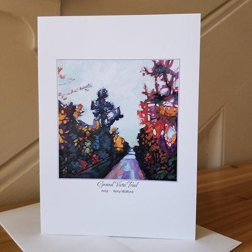 "7"" x 5"" Blank Greeting Card of 'Grand Vista Trail'"