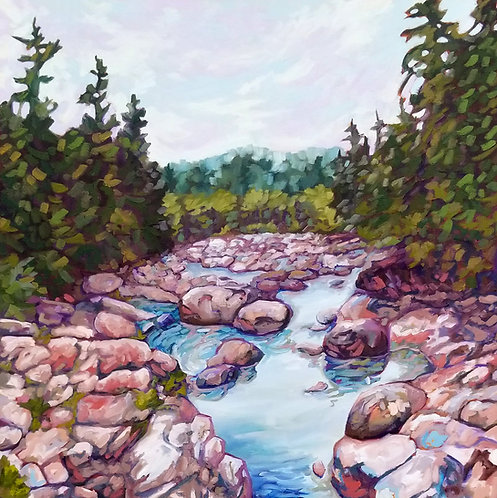 """Rolling Water   30""""x30""""   Kerry Walford"""