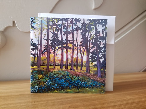 """5"""" x 5"""" Blank Greeting Card of 'Let In The Light'"""