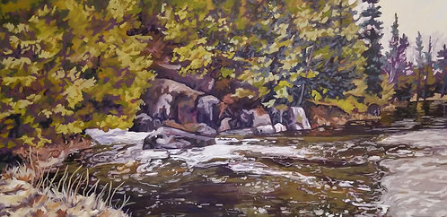 "Babbling Brook | 30""x60"" 