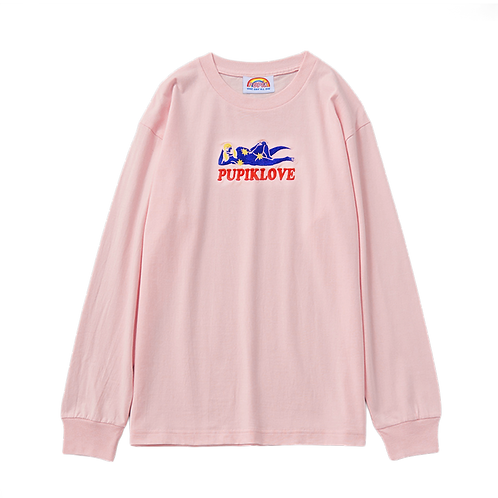 Pupiklove Embroidered Long Sleeve (Light Peach)