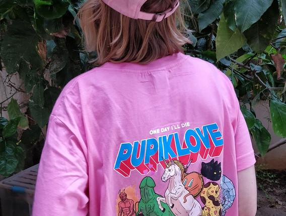 pupik gang pink Tshirt back