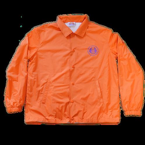 Pupik Cock Fights Nylon Coach Jacket (orange)