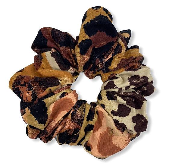 Earthtones Animal Print Jumbo Scrunchie