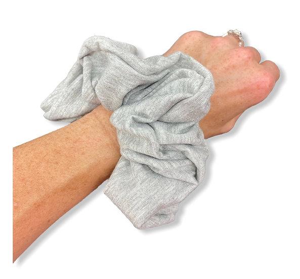 Light Grey Solid Scrunchie