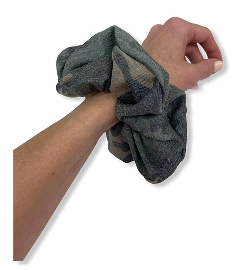 Muted Camo Jumbo Scrunchie