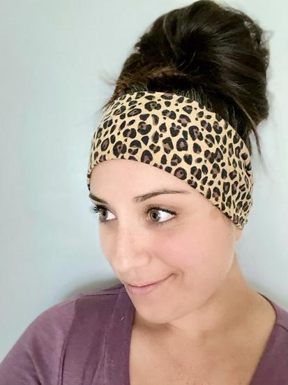 Small Tan Animal Print Headband