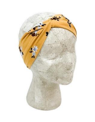 Mustard Gold Floral Headband