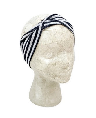 Black and Grey Striped Headband