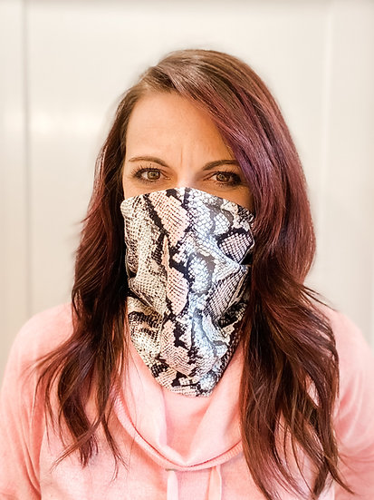 Pink and Black Snake Skin GemBand All-in-one Accessory