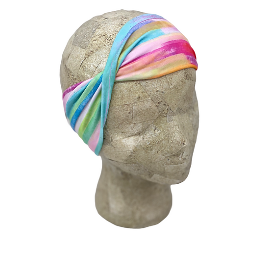 Watercolor Rainbow Headband