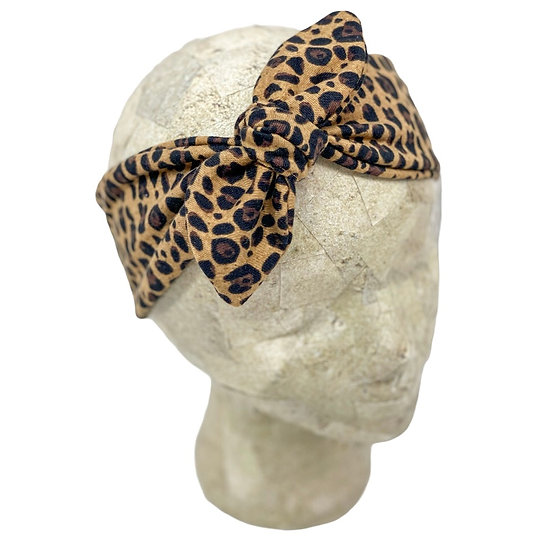 Tie Knit Small Animal Print Headband