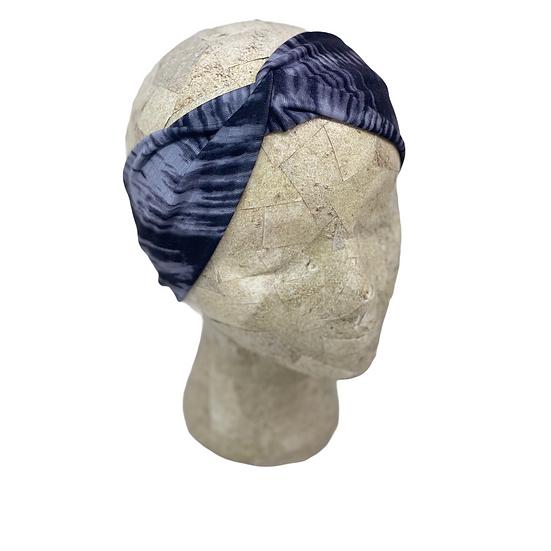 Black and Grey Tie Dye Headband