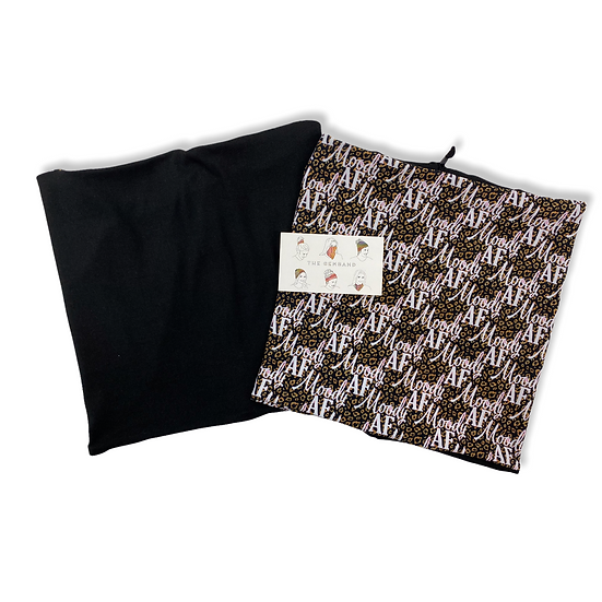 Reversible Moody AF Animal Print and Black GemBand All-in-one Accessory