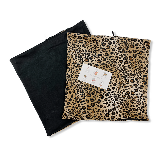 Reversible Tan Animal Print and Black GemBand All-in-one Acce