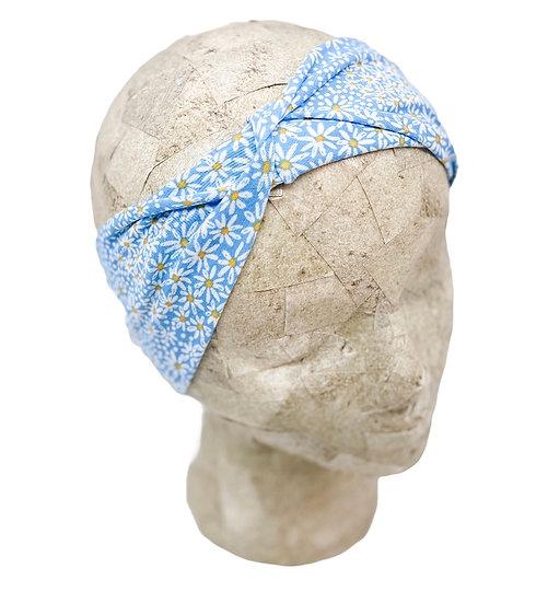 Light Blue and White Daisy Headband