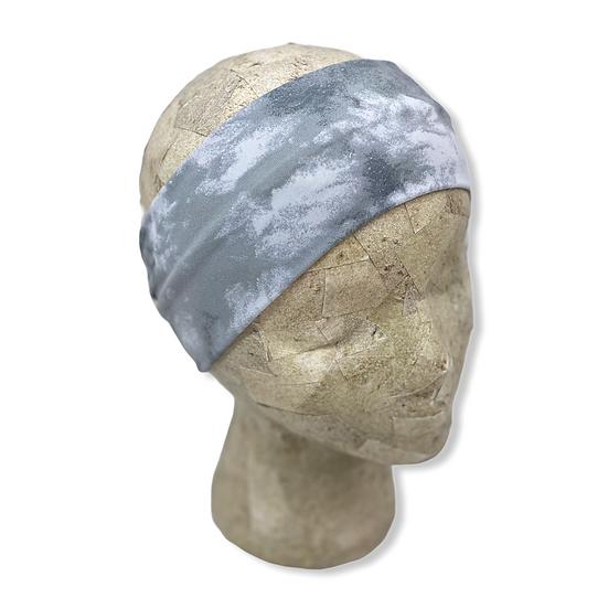 Light Grey Marble Tie Dye Headband