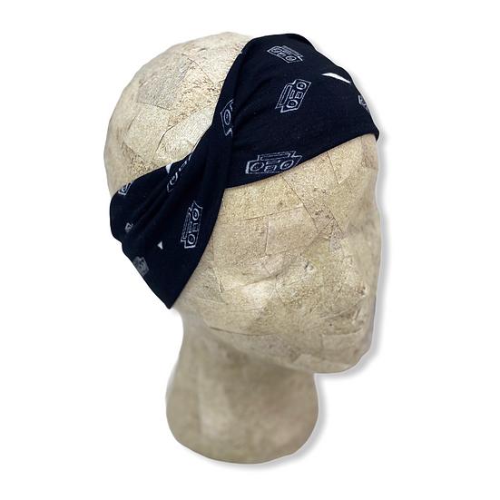 Boom Box 80's Black Headband