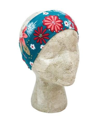Dark Teal Floral Headband