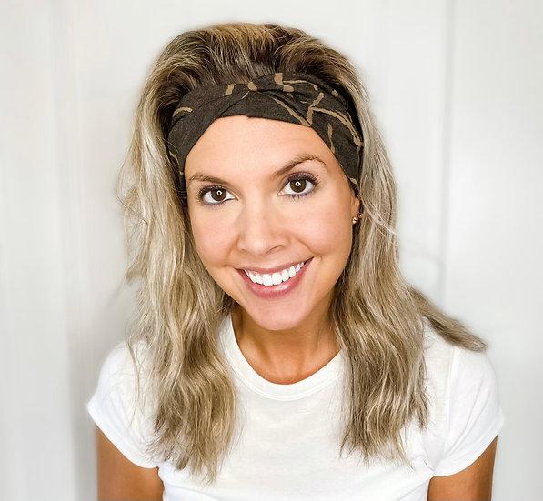 Brown Earthtones Leaf Headband