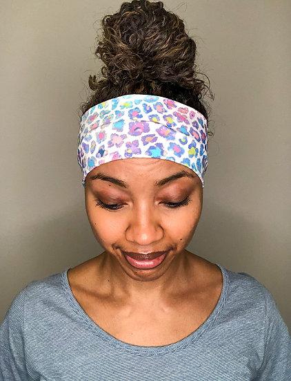 Purple and Teal Animal Print Headband