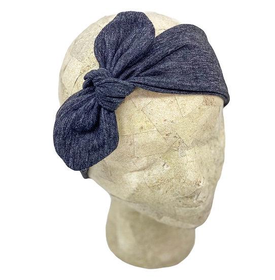 Tie Knit Solid Charcoal Gray Headband