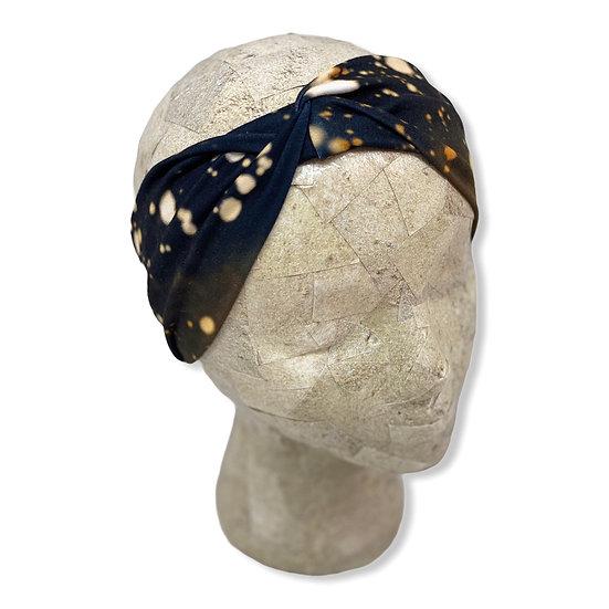 Black Acid Wash Tie Dye Headband