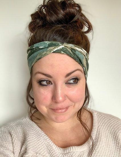 Grunge Distressed Camo Headband