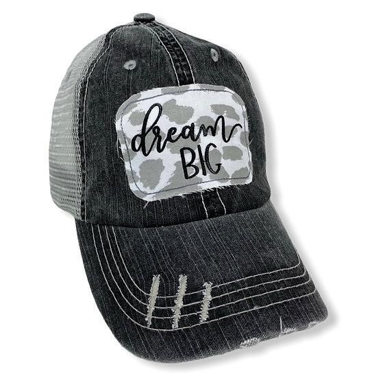 Dream Big Grey and White Trucker Hat