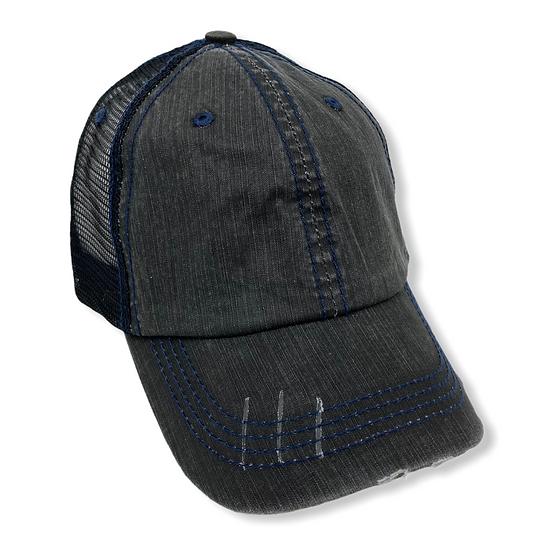 Blank Black Regular Trucker Hat