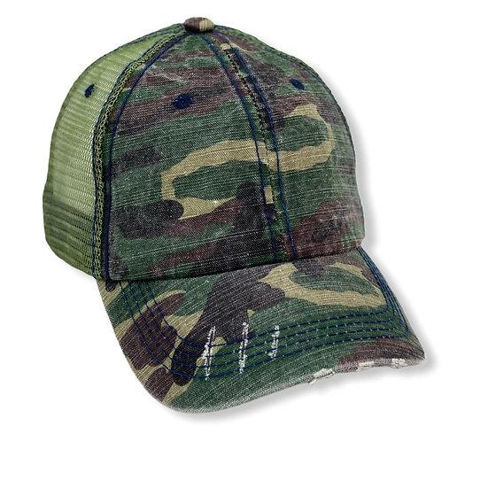 Camouflage Truker Hat - Blank