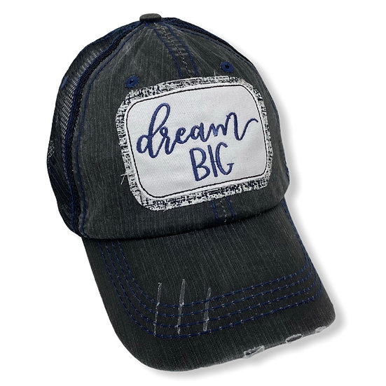 Dream Big Black and Navy Trucker Hat