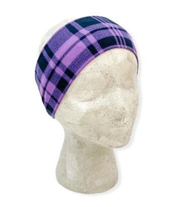 Purple and Black Plaid Headband
