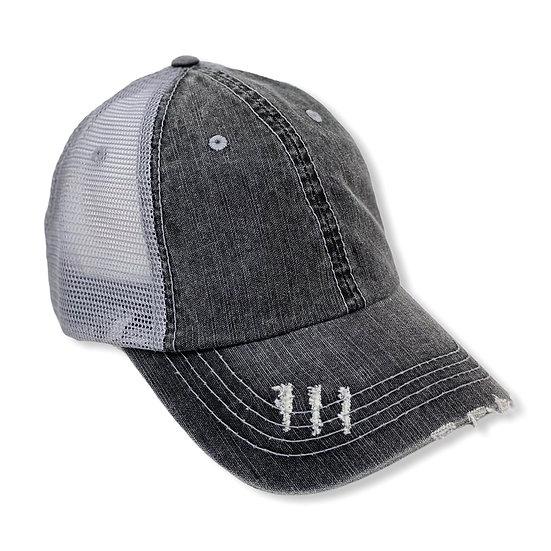 Charcoal Grey Two Toned Regular Trucker Hat