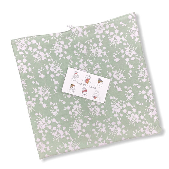 Light Green Sage Floral GemBand - All-in-on Accessory