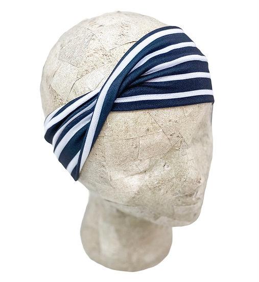 Charcoal Stripes Headband