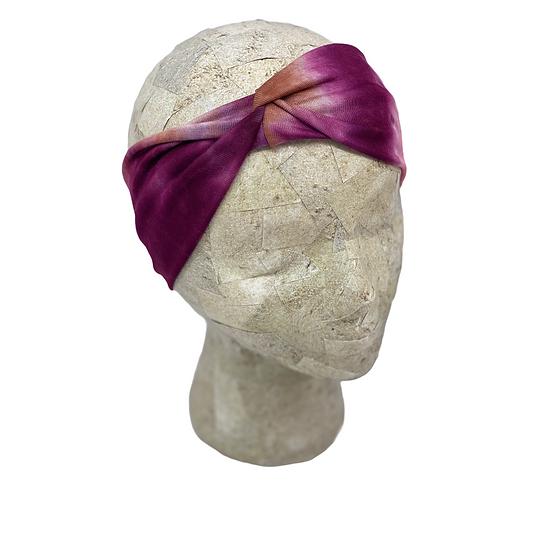 Maroon Tie Dye Headband