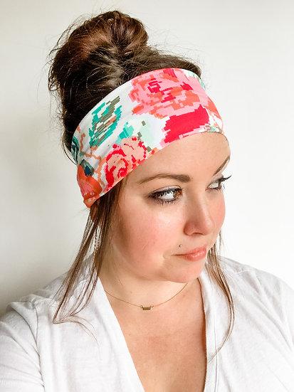 Digital Coral Floral Headband