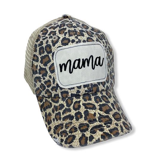 Mama Traditional Animal Print Trucker Hat