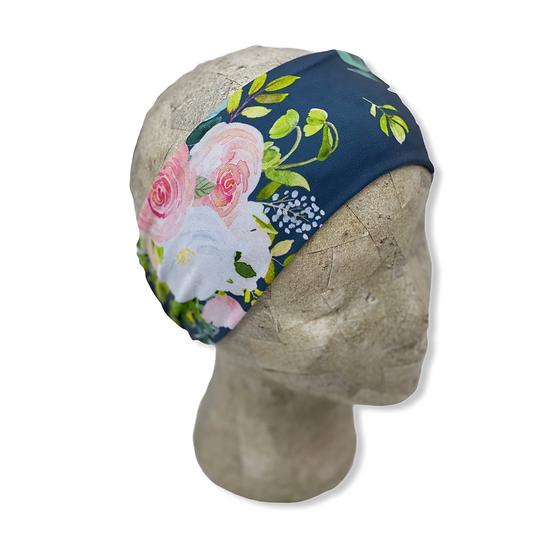 Charcoal Floral Headband