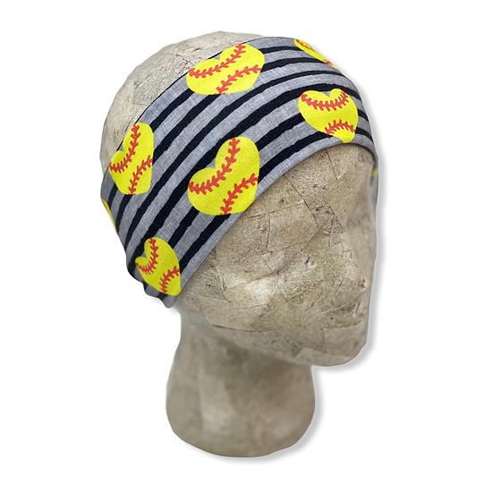 Softball Hearts Headband