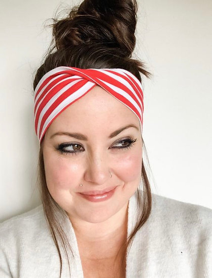 Candy Cane Stripes / Red and White Stripes Headband