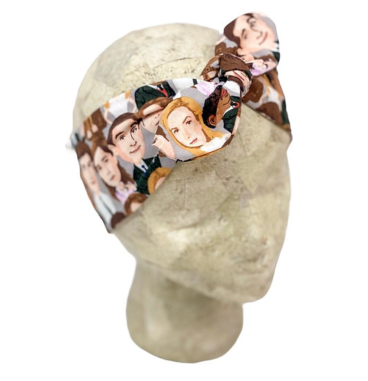 Tie Cotton Office Faces Headband
