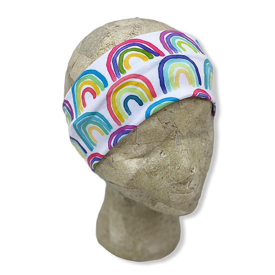 Bright Rainbow Headband
