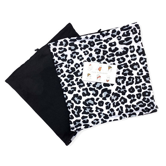 Two Toned Black and Animal Print GemBand All-in-one Accessory